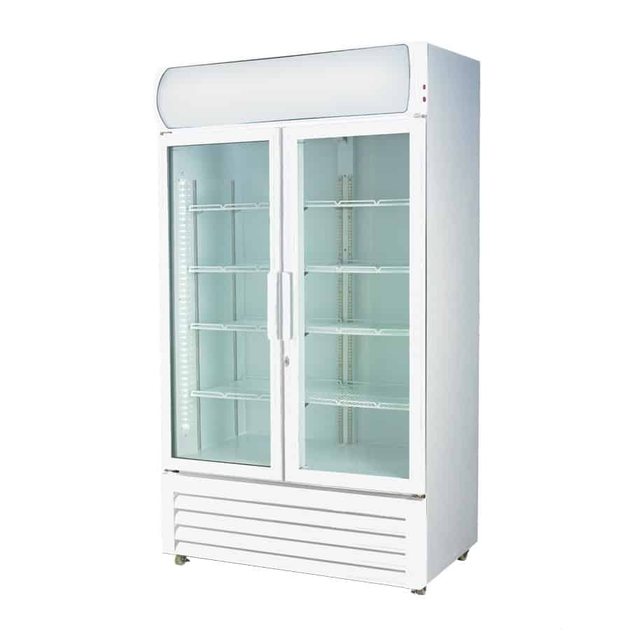 LG-1000GE Two Glass Door Colourbond Upright Drink Fridge